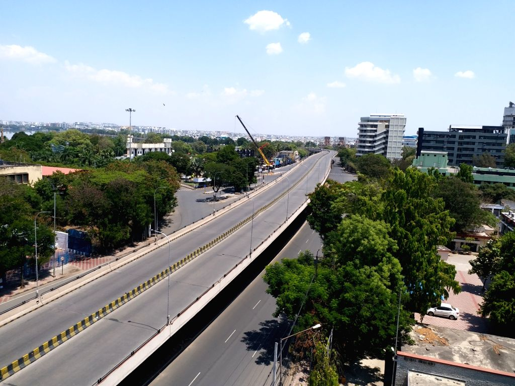 Hyderabad streets bear a deserted look during Prime Minister Narendra Modi???s call to observe a nationwide shutdown - Janata Curfew - as a measure to contain the spread of COVID 19 ... - Narendra Modi