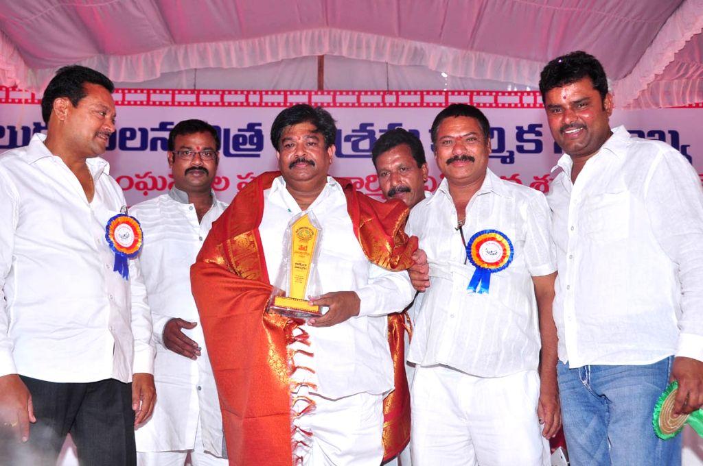 Telugu Film Federation May day celebrations in Hyderabad.