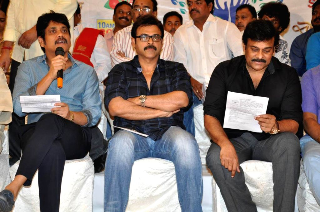 Telugu Film Industry organising a programme for fund rising to Hudhud Toofan victims on 29th Nov evening and 30th Nov, in this connection organisers arranged the press meet.