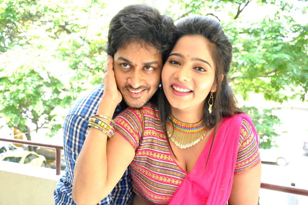 Telugu movie Aloukika Press Meet event held in Hyderabad on 22 April, 2015 (Photo; IANS)