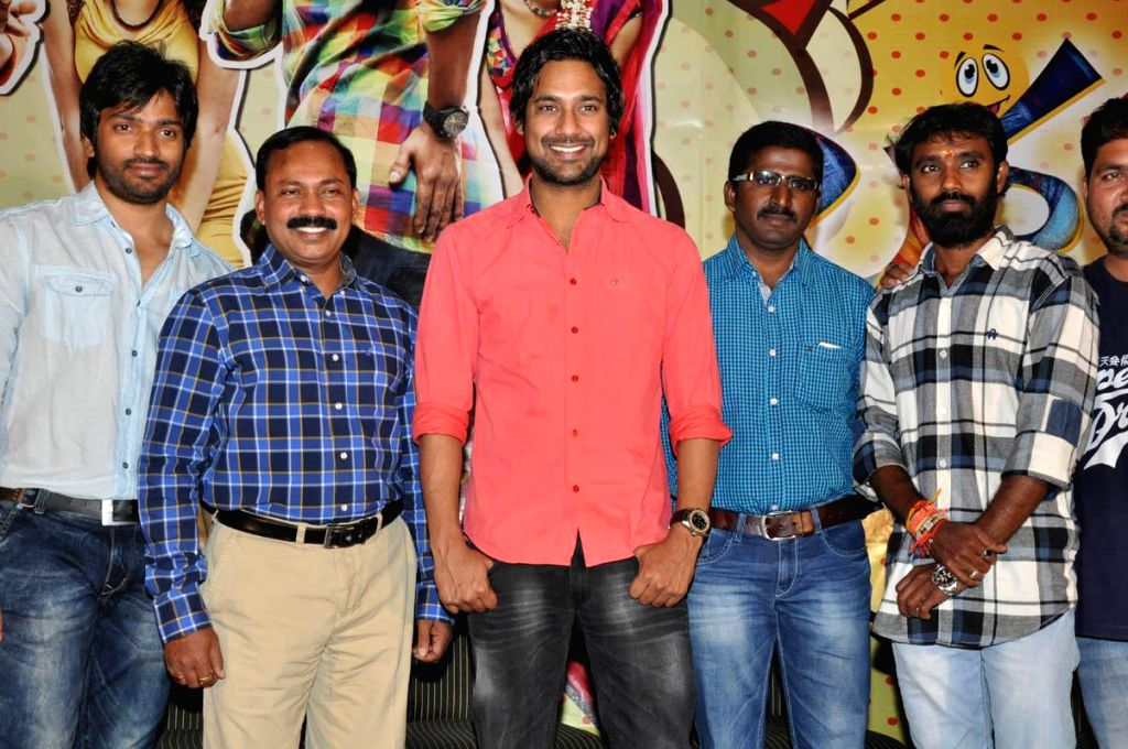 Telugu movie Lava Kusha song launch press meet in Hyderabad on March 6, 2015.