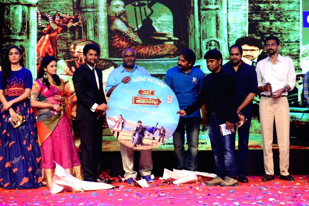 Telugu movie Yevade Subramanyam audio  launch at JRC Convention Centre in Hyderabad