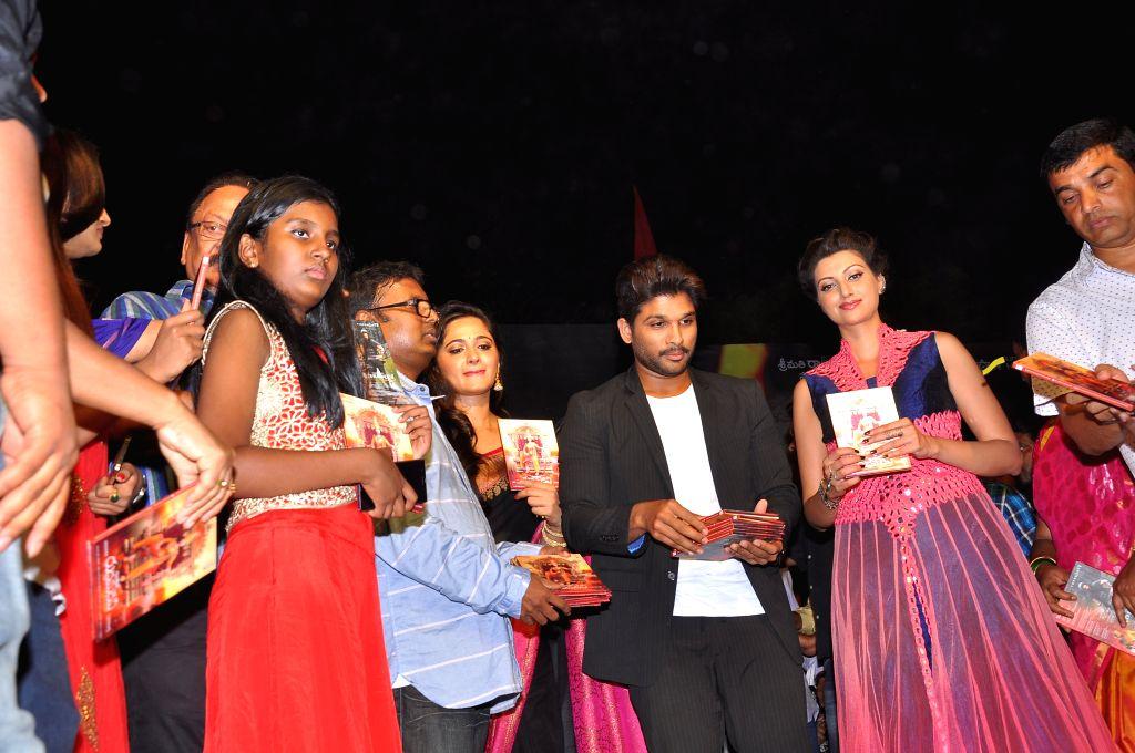 Teluvu movie Rudrama Devi audio release held at Warangal on March 22, 2015.