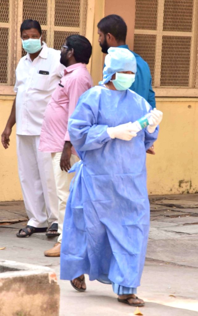 Hyderabad: The Government Fever Hospital during the visit of a central team to review the preparedness of the state health authorities in dealing with the novel coronavirus, in Hyderabad on Jan 28, 2020. (Photo: IANS)