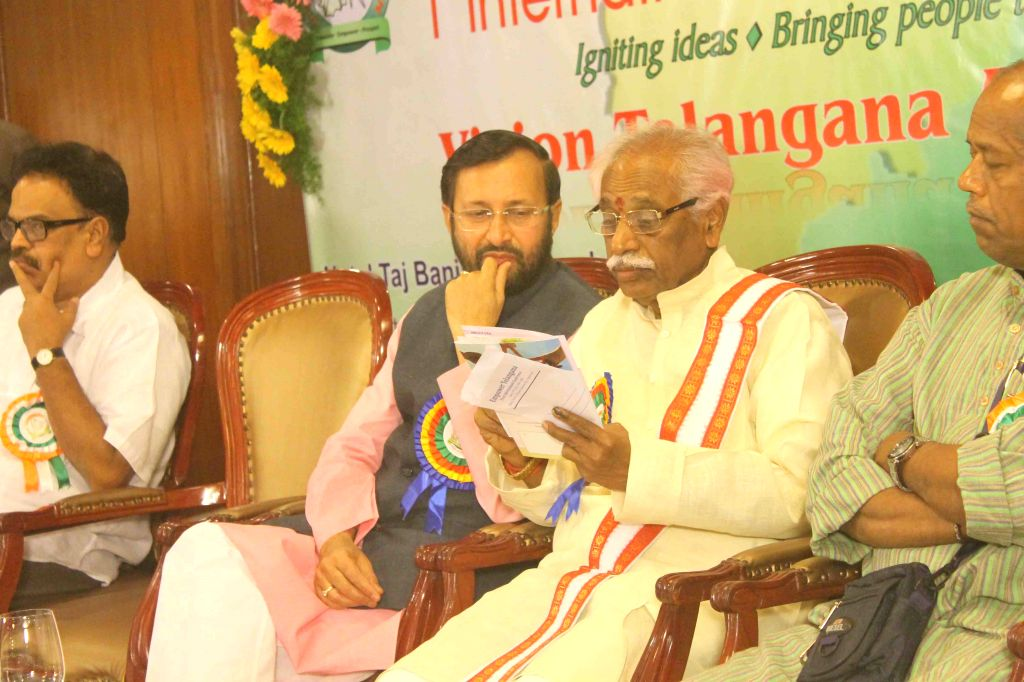 The Minister of State for Environment, Forest and Climate Change (Independent Charge), Prakash Javadekar and Union Minister of State for Labour and Employment (Independent Charge) Bandaru ...