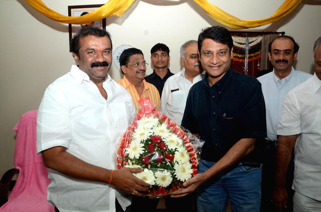 Tollywood Celebrities meet Telugu Cinematography Minister Talasani Srinivas Yadav