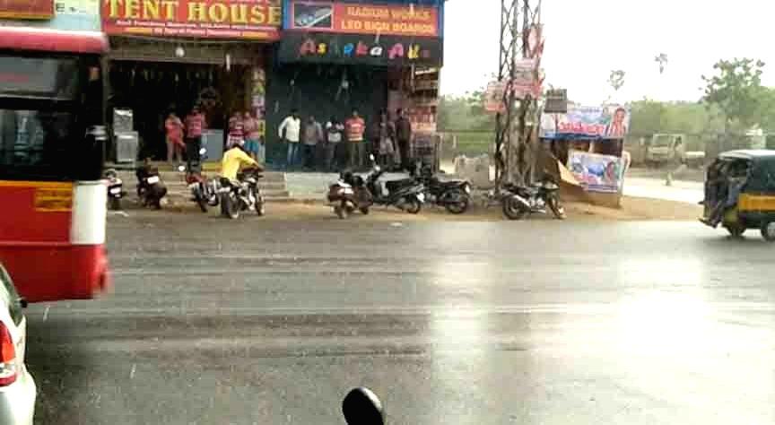 Hyderabad witnesses rains, on April 1, 2018.