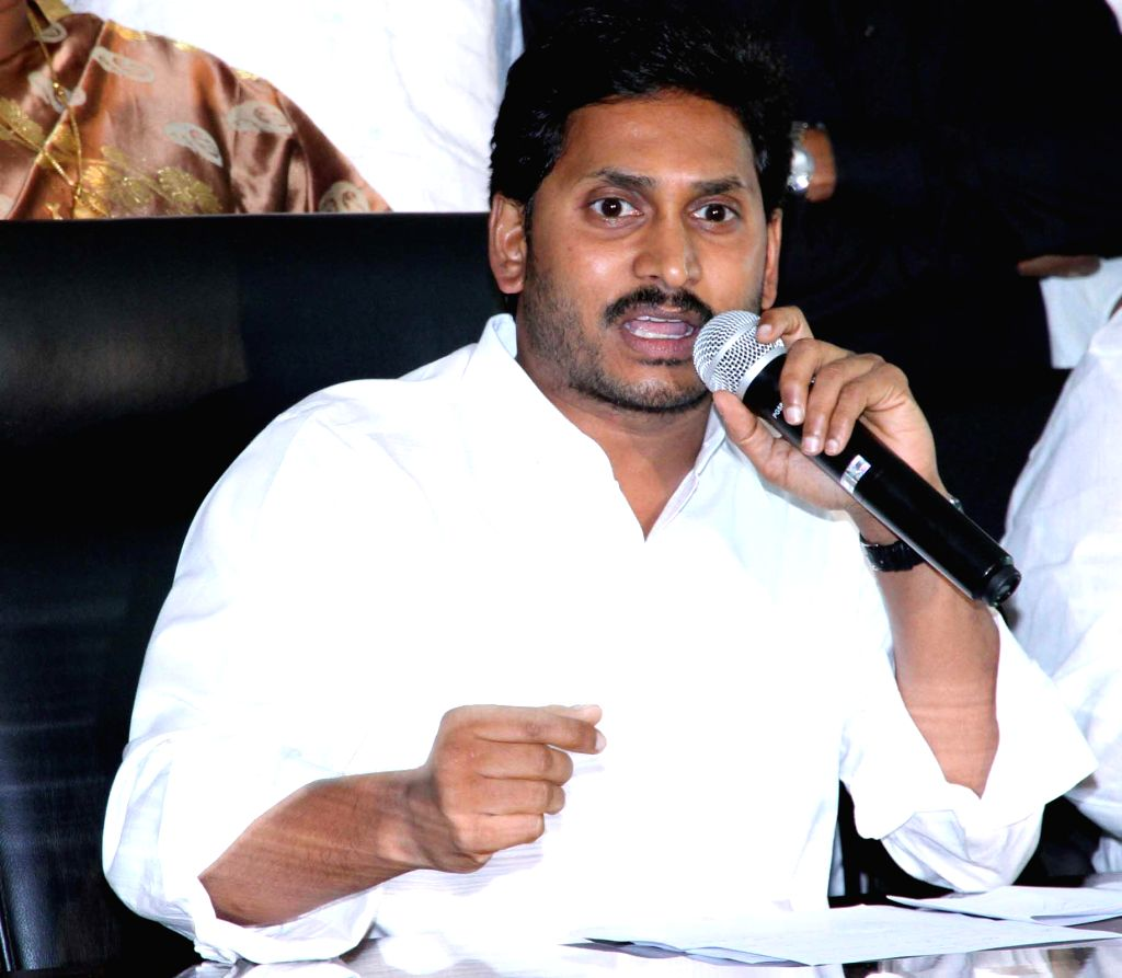 Y S R Congress chief YS Jaganmohan Reddy addresses a press conference in Hyderabad on March 19, 2015.