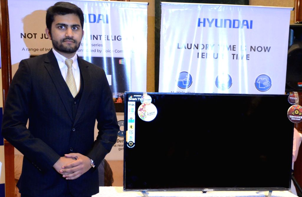 Hyundai Electronics CEO Akshay Dhoot at the launch of a new Television set in Mumbai, on Feb 13, 2019.