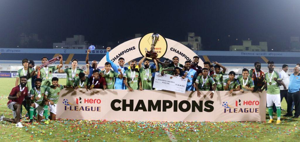 I-League champs Gokulam Kerala get rousing reception at home (Credit : AIFF Media Team)