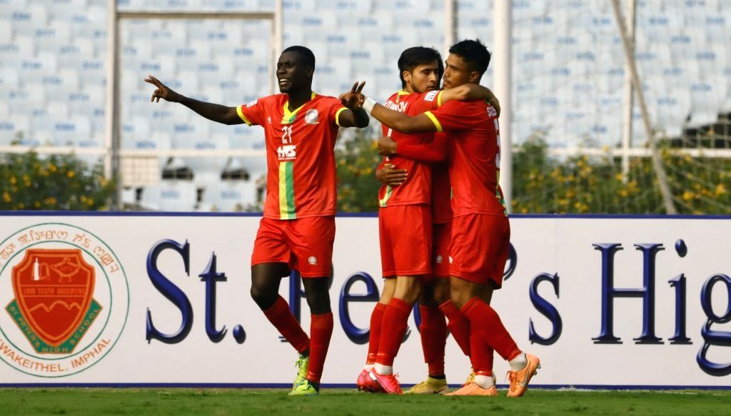 I-League: TRAU record 1st win of the season, beat Chennai 2-0.(photo:AIFF)