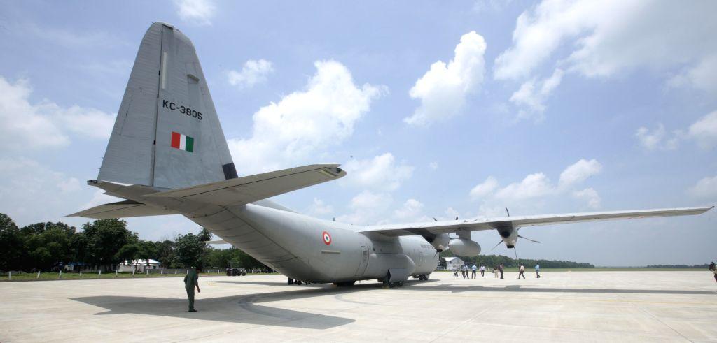 Iaf C 130j Super Hercules Lands At Panagarh Afs