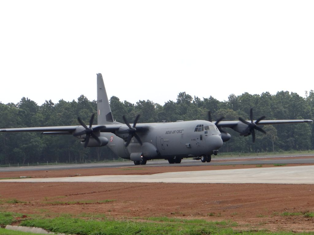 IAF C-130J Super Hercules at Panagrah Air Force Station. The landing was significant as it heralds the beginning of a new chapter enhancing IAF's strategic capability in the Eastern AOR ...