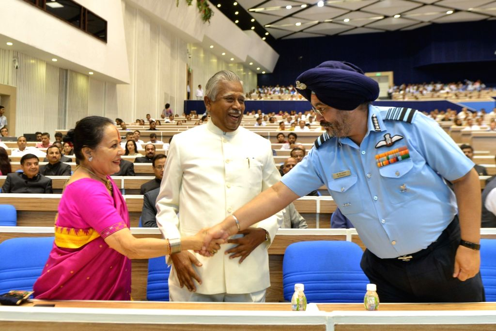 IAF chief BS Dhanoa during the 18th DP Kohli Memorial lecture on 'The Role of police in Strengthening Justice Delivery' at Vigyan Bhawan in New Delhi on Aug 13, 2019.