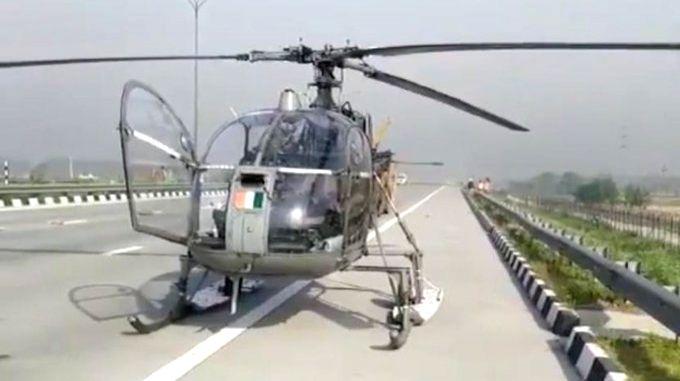 IAF chopper on COVID duty lands on UP expressway.