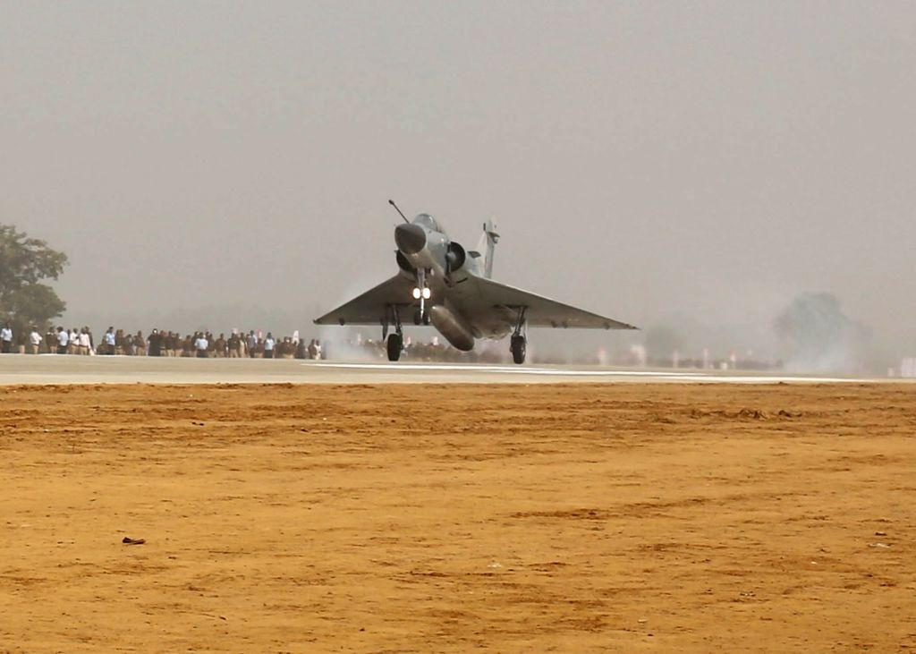 IAF's Mirage 2000s carried out a 'touch and go' during an exercise to land jets on the newly constructed Agra-Lucknow Expressway on its opening at Unnao, around 50 km from Lucknow on Nov 21, ...