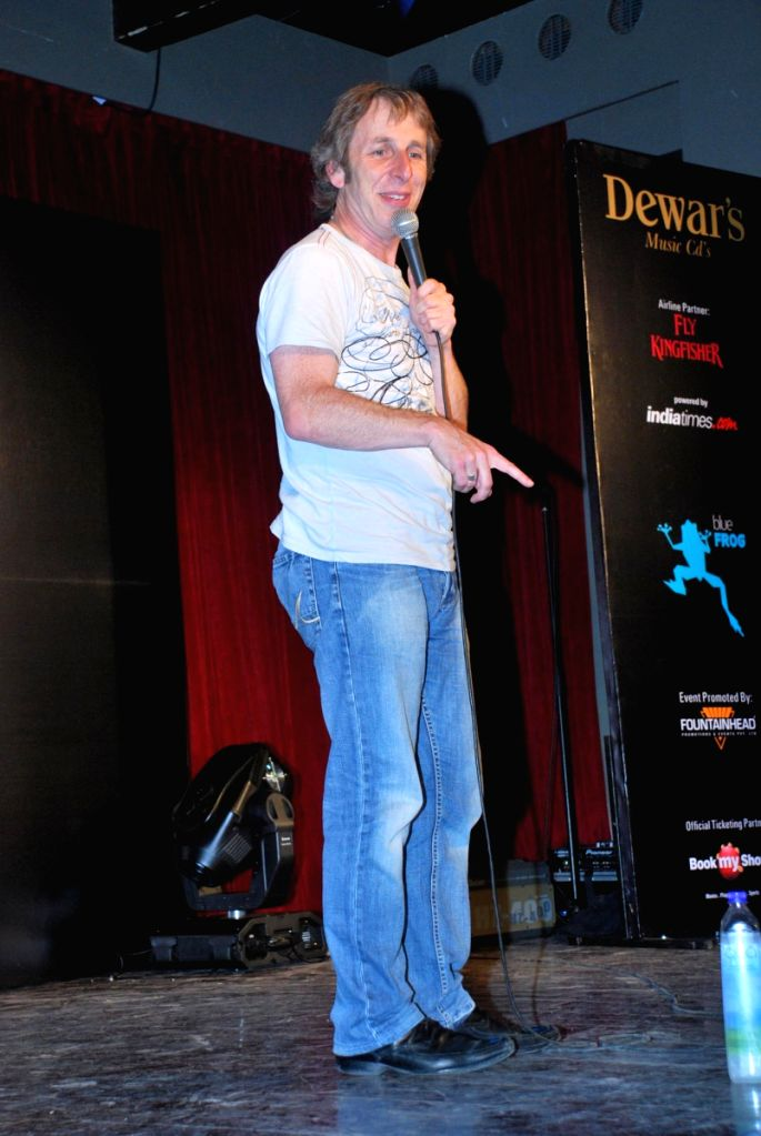 Ian Stone at the Comedy Store Tour in Mumbai.