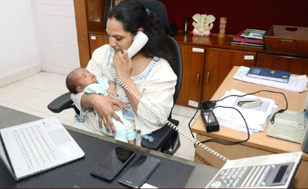 IAS officer returning to work within a month after delivery