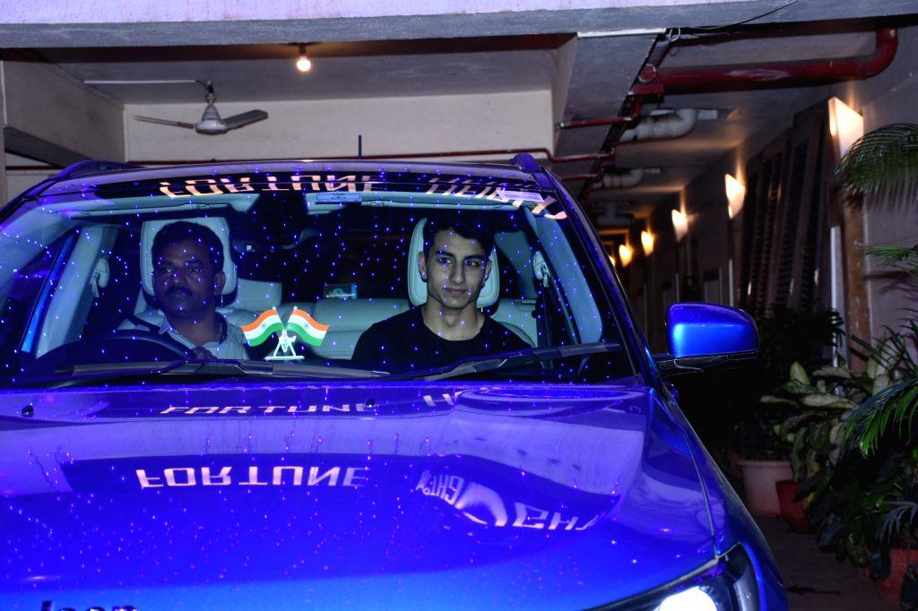 Ibrahim Ali Khan at actor Saif Ali Khan's residence for Diwali celebration in Mumbai on Oct 26, 2019. - Saif Ali Khan and Ali Khan