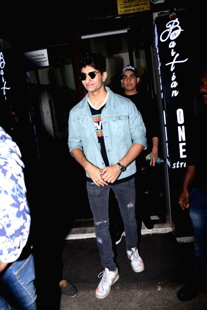 Ibrahim Ali Khan, son of actor Saif Ali Khan and actress Amrita Singh seen at Bandra in Mumbai on Aug 25, 2019. - Saif Ali Khan and Amrita Singh