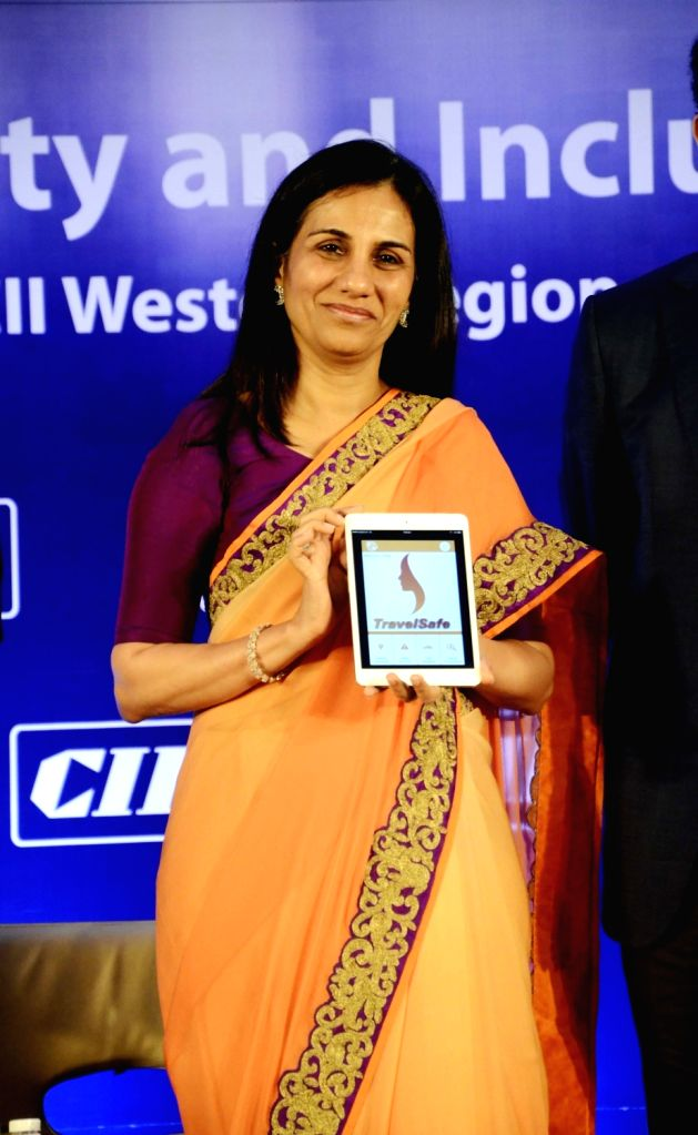 ICICI Bank chief Chanda Kochhar during the launch of a App `Travel Safe` in Mumbai, on Nov 2, 2015.