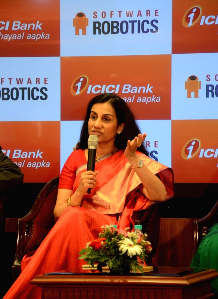 """ICICI CEO Chandra Kochhar at the launch of """"Software Robotics"""" at ICICI Bank Head Quarters in Mumbai, on Sept 8, 2016."""