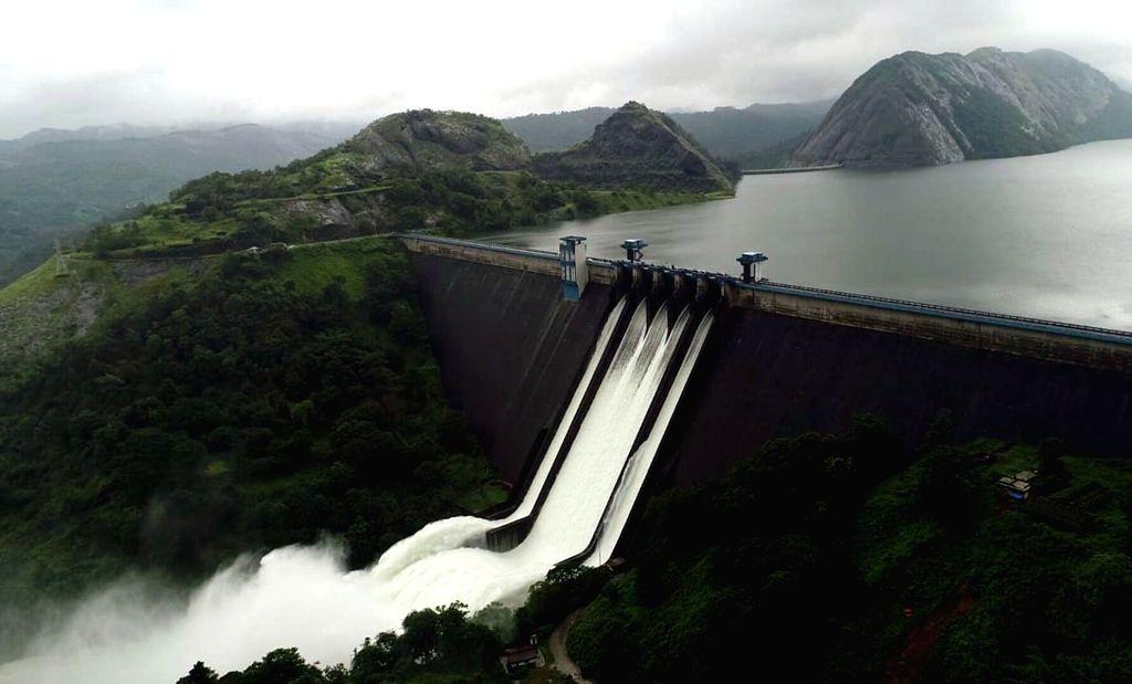 Idukki (Kerala): A view of the Idukki dam on Aug. 10, 2018.