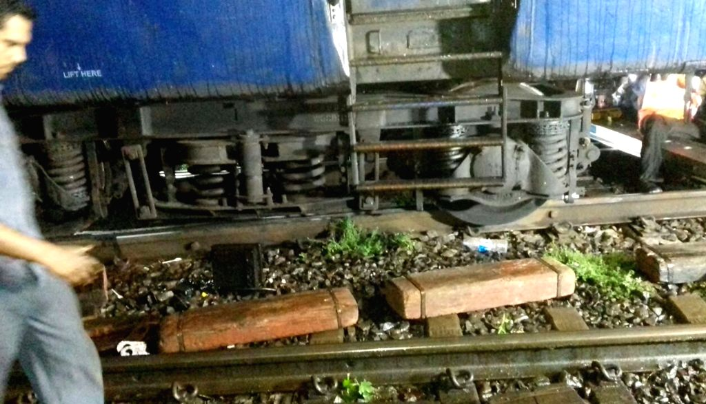 Igatpuri: Three coaches of the Mumbai-Howrah Mail train derailed near Igatpuri in Maharashtra on June 10, 2018. No passenger was injured in the accident. (Photo: IANS)