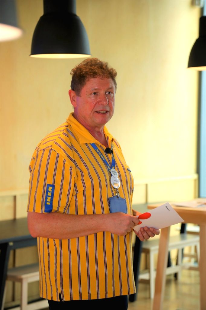 IKEA India CEO Peter Betzel addresses during a programme organised on the first anniversary of IKEA's Hyderabad store, on Aug 9, 2019.