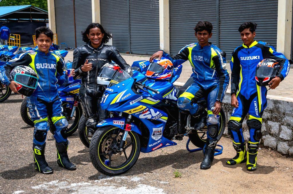 Ikshan Shanbag, Aditi Krishnan, Prashant and Aryan Gaurav at the Red Bull Road to Rookies Cup.