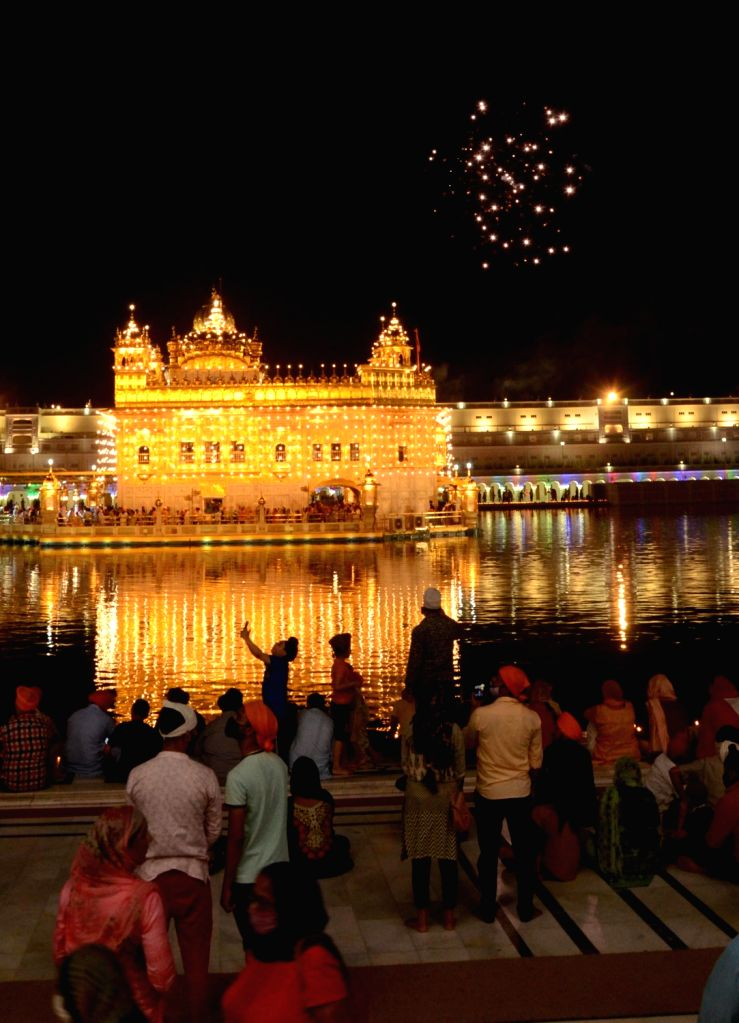 illuminated  Golden temple on the occasion of the birth anniversary of Guru Amar Das (Third Guru of Sikhism) in Amritsar, Tuesday, May 25, 2021.