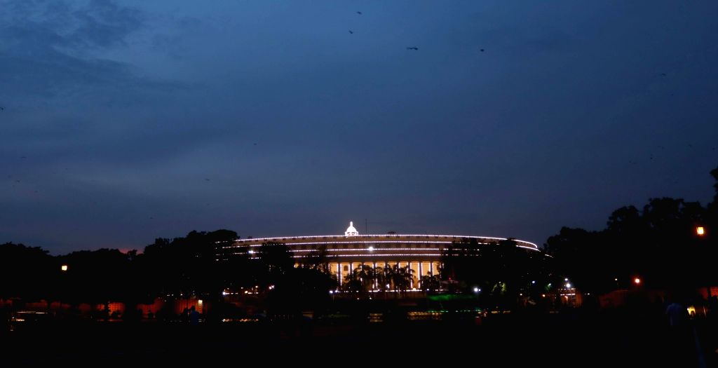Illuminated Parliament House, days before the Independence Day on Aug. 12, 2016.