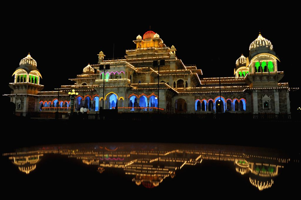 Illuminuted Albert Hall Museum on the eve of the Independence Day in Jaipur, on Aug 14, 2015.