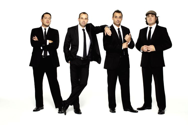 Images of American comedy troupe The Tenderloins