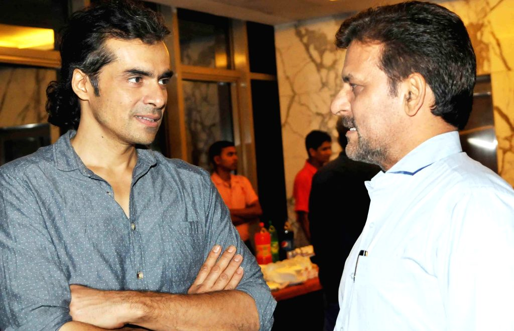 Imtiaz Ali, Rakesh Madhotra ceo nadiad wala grandson during special screening of film 2 States at YRF Studios in Mumbai on April 17, 2014.