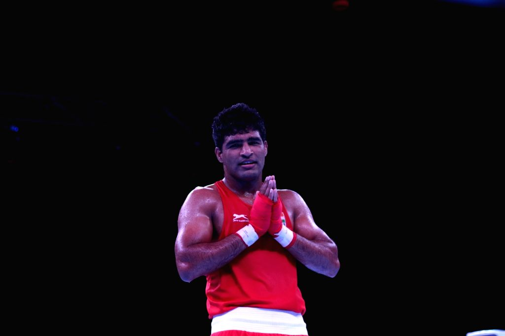 In 81kg, Brijesh landed a flurry of punches to knock out Saranon Klompan of Thailand before being declared the winner by RSC in Round 2 at the Thailand Open International Boxing Tournament.
