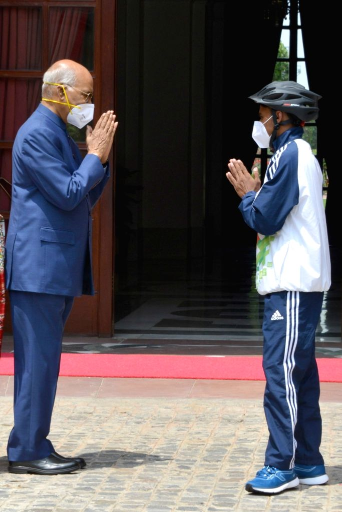 In a gesture of motivating youth for nation-building, President Ram Nath Kovind chose a struggling school boy Riyaz, who dreams of excelling as cyclist, to gift him a racing bicycle. The ... - Nath Kovind