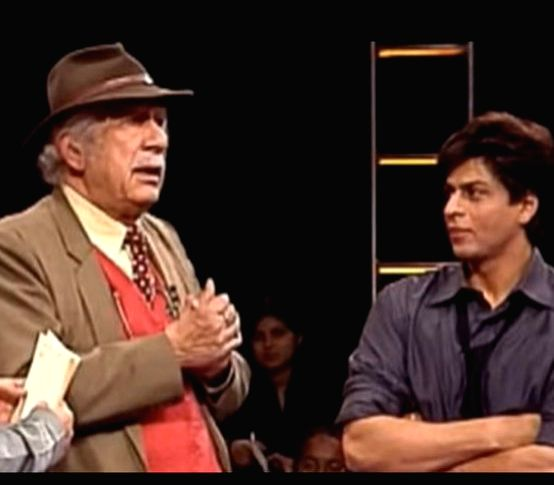 """In a heartwarming tribute to the late Colonel Raj Kapoor, who directed his 1988 TV series """"Fauji"""", Bollywood superstar Shah Rukh Khan tweeted on Friday: """"He loved me so much. Encouraged me. And today if I am used to being mollycoddled on sets, it is  - Raj Kapoor and Rukh Khan"""