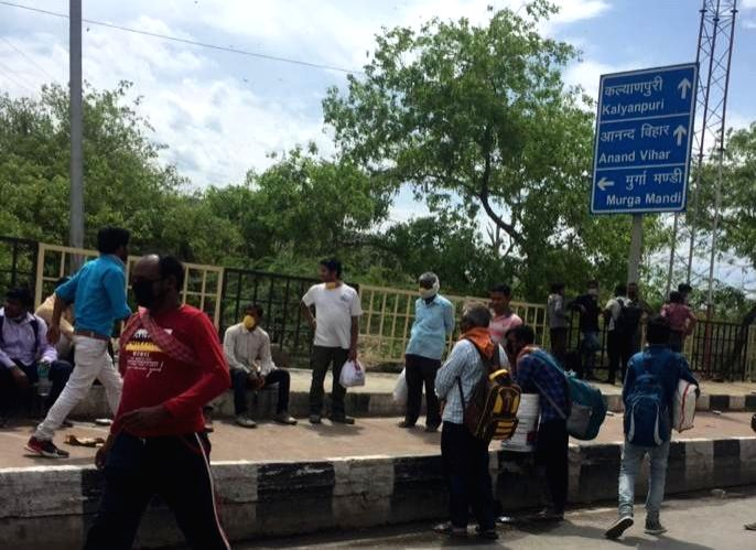 In a shocking incident, migrants who were returning to their homes in Uttar Pradesh were sprayed with 'chemical on Sunday by a team on sanitising duty at the Bareilly bus stand.