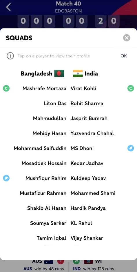 In an embarrassing faux pas, the International Cricket Council (ICC) failed to realise that it had included Vijay Shankar and Kuldeep Yadav in India's playing XI for the game against Bangladesh at the Edgbaston Cricket Ground on Sunday. Th - Kuldeep Yadav and Bhuvneshwar Kumar