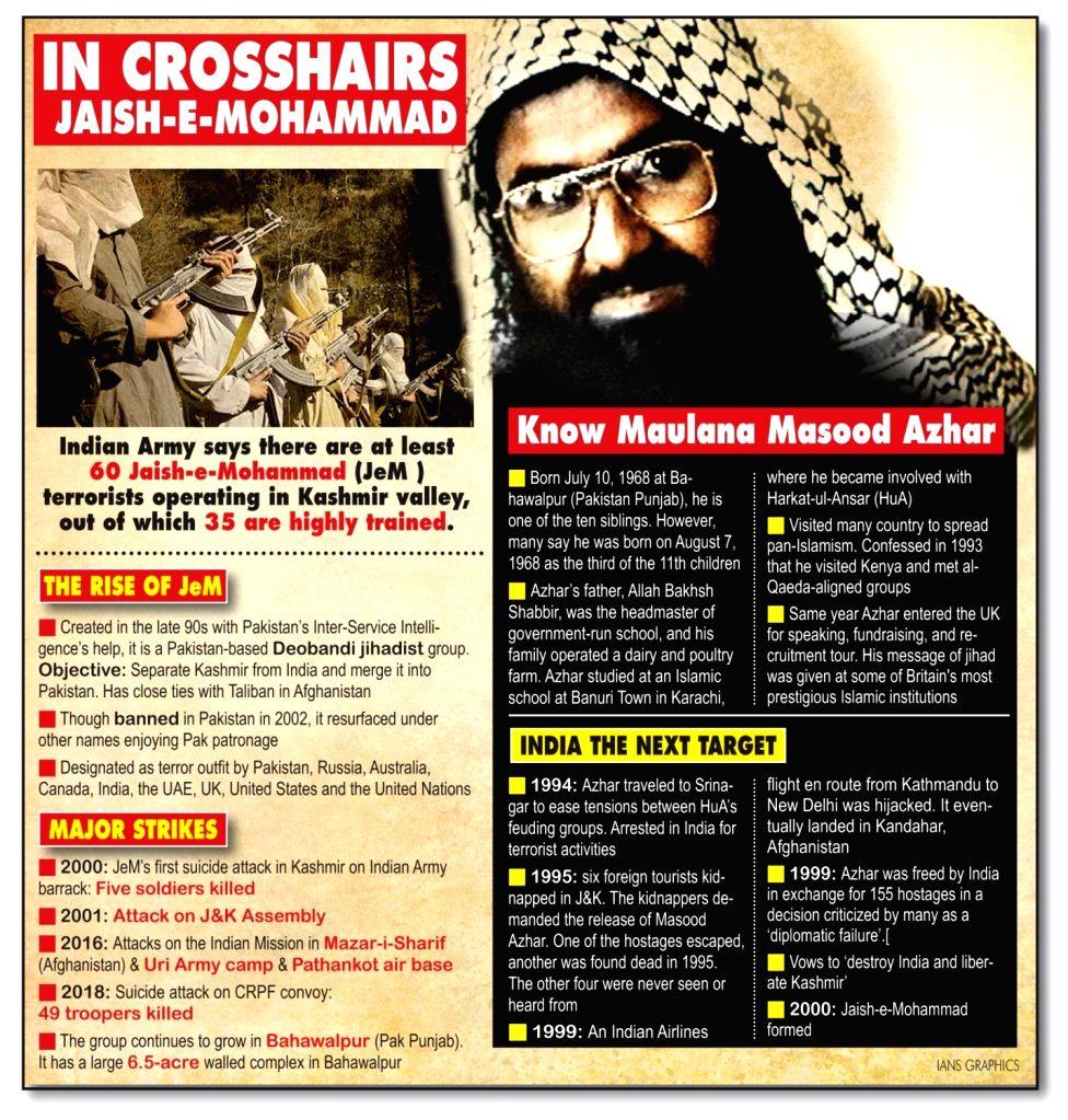 In Crosshairs Jaish-e-Mohammad. (IANS Infographics)