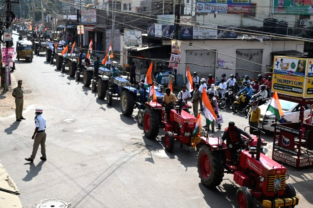 In the support of Farmers agitation congress activities taken out Tractor Rally  26th January 2021 ( Photo : IANS) - Rally