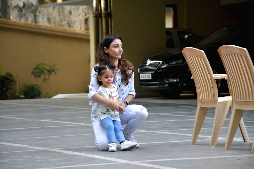 Inaaya Khemu, daughter of actors Soha Ali Khan and Kunal Khemu seen at Bandra, in Mumbai on March 9, 2019. - Soha Ali Khan and Kunal Khemu