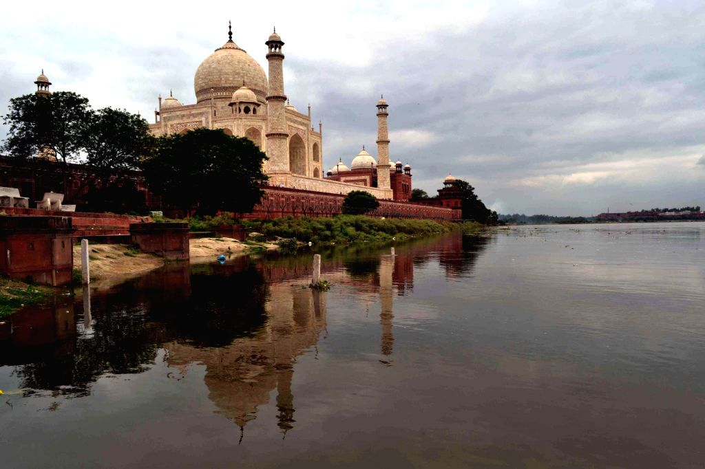 Increased water level of Yamuna in Agra on July 24, 2014. (Photo: Pawan Sharma/IANS) - Pawan Sharma