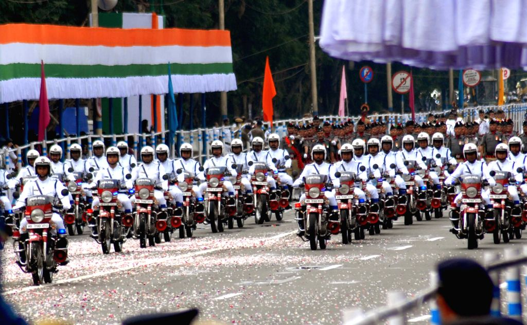 Independence Day celebrations underway at Red Road in Kolkata on Aug 15, 2015.