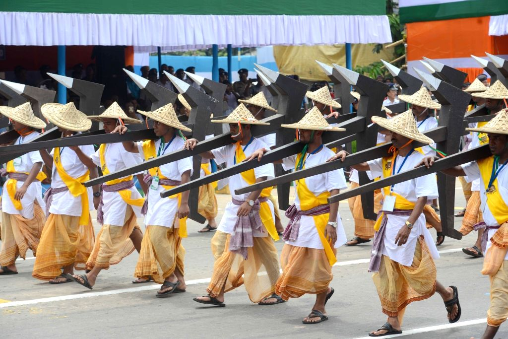 Independence Day celebrations underway at Red Road in Kolkata on Aug 15, 2016.