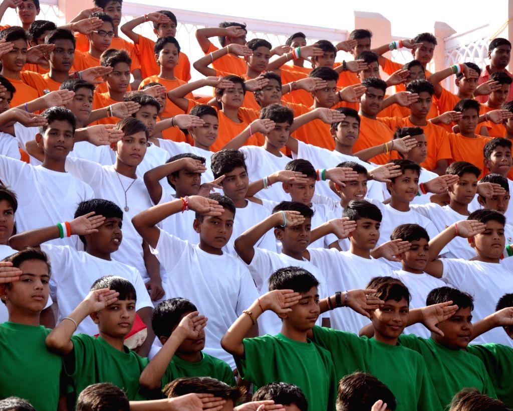 Independence Day celebrations underway in Bikaner on Aug 15, 2016.