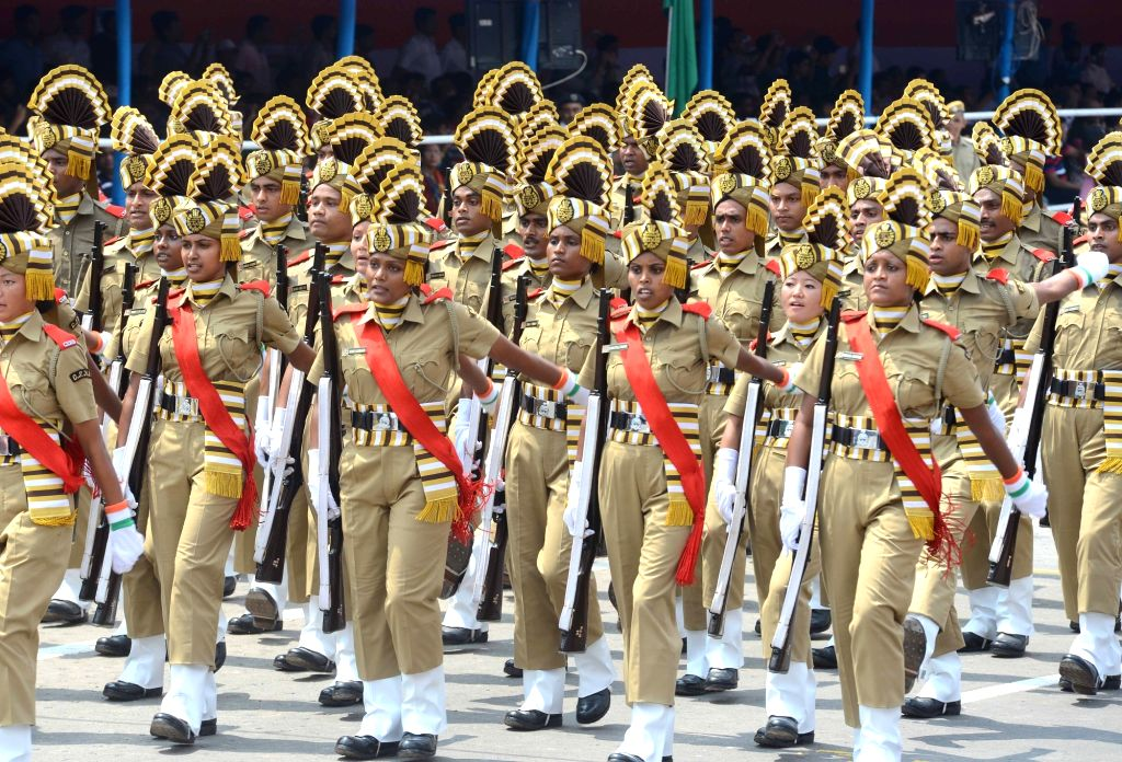 Independence Day parade underway at Red Road in Kolkata on Aug 15, 2016.
