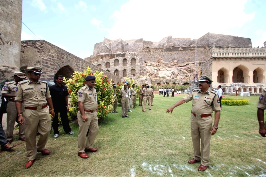 Independence Day rehearsal at Golconda Fort in Hyderabad on Aug 13, 2016.