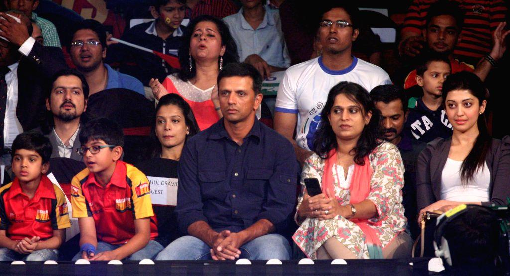 India A coach Rahul Dravid during a Pro Kabaddi league match between U Mumba and Patna Pirates at Kanteerava Stadium in Bengaluru, on Aug 15, 2015. - Rahul Dravid